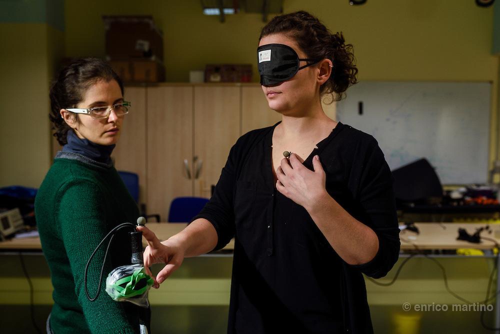 Genoa- Istituto Italiano di Tecnologia, u-vip lab, sx Elena Aggius, dx Alessia Tonelli.