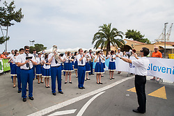 Orchestra performs National anthem during Stage 1 of 24th Tour of Slovenia 2017 / Tour de Slovenie from Koper to Kocevje (159,4 km) cycling race on June 15, 2017 in Slovenia. Photo by Vid Ponikvar / Sportida