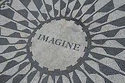 John Lennon memorial, Central Park, Manhattan, New York