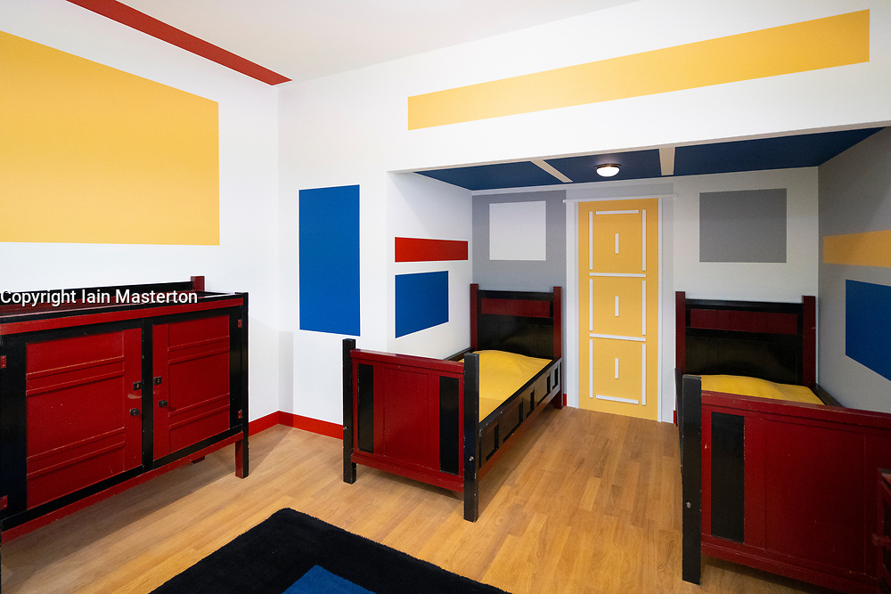 VILMOS HUSZÁR and  PIETER JAN CHRISTOFFEL Boys' bedroom made for Villa Arendshoeve, home of the Bruynzeel family at the Gemeentemuseum in The Hague, Den Haag, The Netherlands