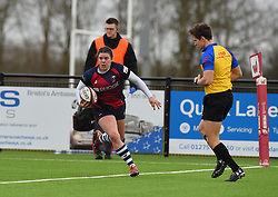 Phoebe Murray of Bristol Bears Women cruises over the line to dot down - Mandatory by-line: Paul Knight/JMP - 11/01/2020 - RUGBY - Shaftesbury Park - Bristol, England - Bristol Bears Women v Firwood Waterloo Women - Tyrrells Premier 15s