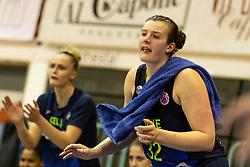 Chatrice Marie White of Cinkarna Celje cheering during the basketball match between Akson Ilirija and Cinkarna Celje in Final Round of Pokal Članic 2018/19, on March 10, 2019 in Dvorana Tabor, Maribor, Slovenia. Photo by Blaž Weindorfer / Sportida