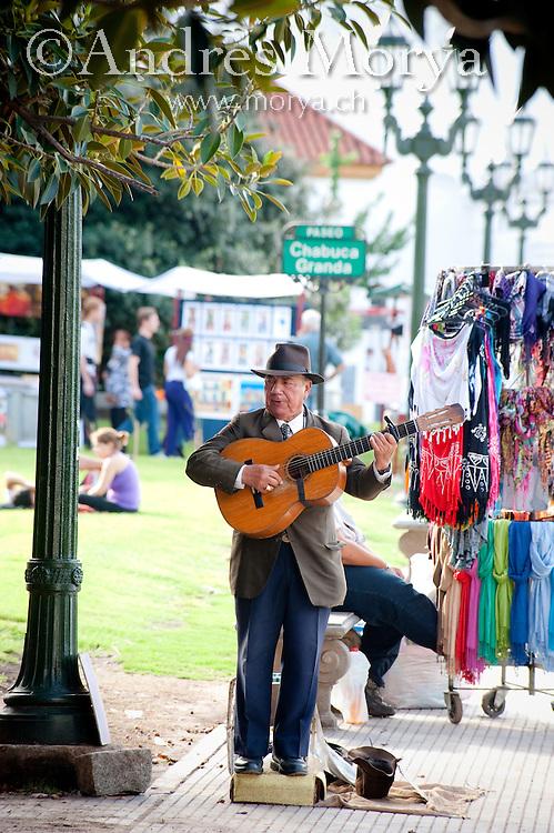 Tango Musician Gardelito in Barrio Recolta, Buenos Aires, Argentina Image by Andres Morya