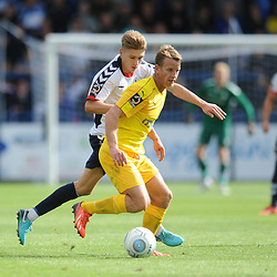 TELFORD COPYRIGHT MIKE SHERIDAN 25/8/2018 - Henry Cowans closes down for Telford during the Vanarama Conference North fixture between AFC Telford United and Chester City.
