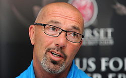 Somerset's Director of Cricket Matt Maynard. - Photo mandatory by-line: Harry Trump/JMP - Mobile: 07966 386802 - 14/06/15 - SPORT - CRICKET - LVCC County Championship - Division One - Day One - Somerset v Nottinghamshire - The County Ground, Taunton, England.