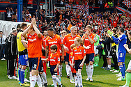 Luton Town enter the pitch to a Guard of Honour from Forest Green Rovers before the Skrill Conference Premier match at Kenilworth Road, Luton<br /> Picture by David Horn/Focus Images Ltd +44 7545 970036<br /> 21/04/2014