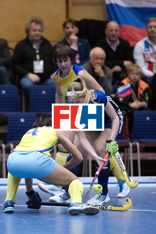 BERLIN - Indoor Hockey World Cup<br /> Kazakhstan - Russia<br /> foto: Valeriia Borisova and Natalya Sazontova <br /> WORLDSPORTPICS COPYRIGHT FRANK UIJLENBROEK