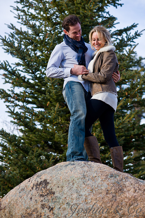 Aaron and Melissa's engagement session at the Stanley Hotel and near Estes Park, Colorado on Monday, Nov. 21, 2011. ..Joshua Lawton  // Joshua & Co. Photography // www.joshuacophotography.com