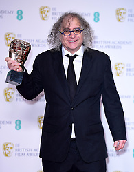 Hank Corwin with his Best Editing Bafta for Vice in the press room at the 72nd British Academy Film Awards held at the Royal Albert Hall, Kensington Gore, Kensington, London.