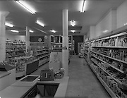 26/01/1959<br /> 01/26/1959<br /> 26 January 1959<br /> Interiors of Messrs H. Williams and Co. Ltd. self-service store, Rathmines, Dublin.