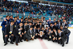 Team South Korea (third place) at ceremony after ice hockey match between Kazakhstan and Hungary at IIHF World Championship DIV. I Group A Kazakhstan 2019, on May 5, 2019 in Barys Arena, Nur-Sultan, Kazakhstan. Photo by Matic Klansek Velej / Sportida