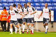 Bolton Wanderers celebrate the second goal scored by Bolton Wanderers midfielder Luke Murphy during the EFL Sky Bet League 1 match between Bolton Wanderers and Fleetwood Town at the University of  Bolton Stadium, Bolton, England on 2 November 2019.