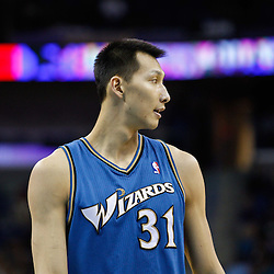 February 1, 2011; New Orleans, LA, USA; Washington Wizards power forward Yi Jianlian (31) against the New Orleans Hornets during the fourth quarter at the New Orleans Arena.   Mandatory Credit: Derick E. Hingle