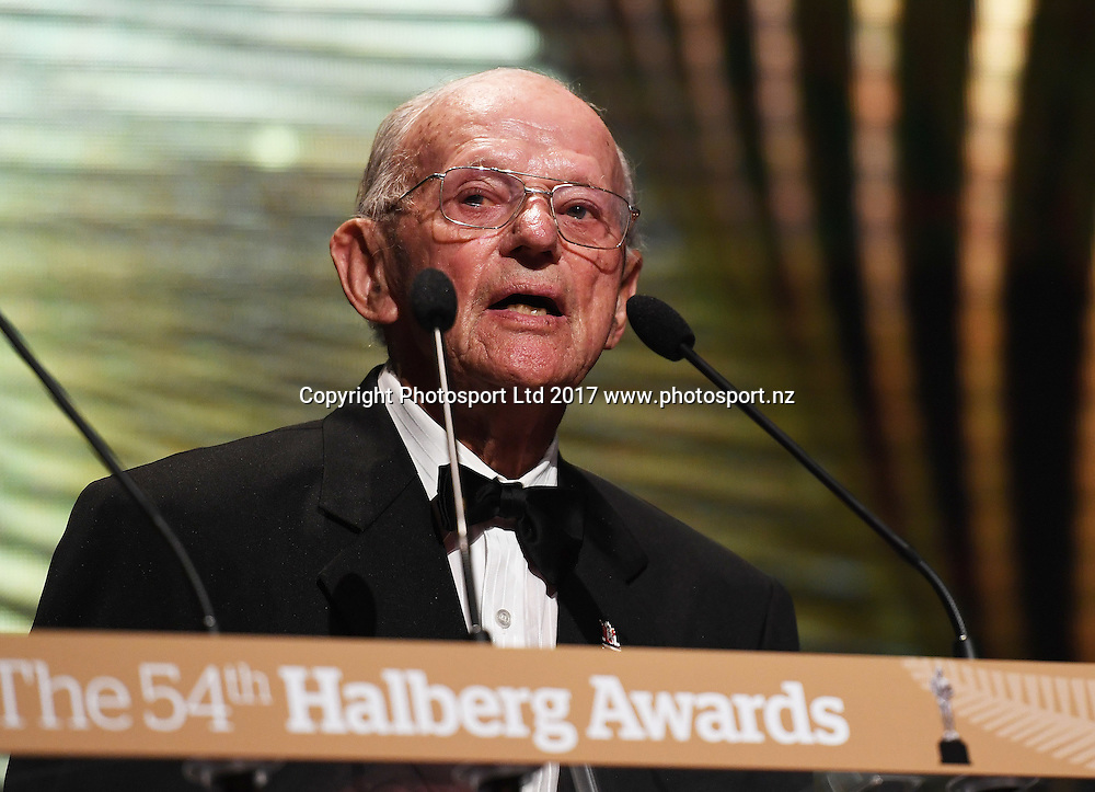 Arch Jelley. The 54th Halberg Awards in support of the Halberg Disability Sport Foundation. Vector Arena, Auckland, New Zealand. Thursday 9 February 2017. © Copyright photo: Andrew Cornaga / www.photosport.nz
