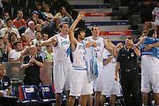 DESCRIZIONE : Madrid Spagna Spain Eurobasket Men 2007 Qualifying Round Italia Turchia Italy Turkey GIOCATORE : Team Italia Team Italy <br /> SQUADRA : Nazionale Italia Uomini Italy <br /> EVENTO : Eurobasket Men 2007 Campionati Europei Uomini 2007 <br /> GARA : Italia Turchia Italy Turkey <br /> DATA : 10/09/2007 <br /> CATEGORIA : Esultanza <br /> SPORT : Pallacanestro <br /> AUTORE : Ciamillo&amp;Castoria/M.Metlas <br /> Galleria : Eurobasket Men 2007 <br /> Fotonotizia : Madrid Spagna Spain Eurobasket Men 2007 Qualifying Round Italia Turchia Italy Turkey Predefinita :