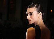 British actress Kiera Knightley arrives for the UK premiere of 'A Dangerous Method' at the London Film Festival, at a central London cinema, Monday, Oct. 24, 2011. (AP Photo/Joel Ryan)