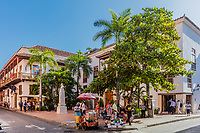 Cartagena , Colombia  - March 9, 2017 : Centro Historico<br /> area of Cartagena de los indias Bolivar in Colombia South America