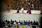 POPE FRANCIS ARRIVES FOR HIS WEEKLY GENERAL AUDIENCE AT THE PAUL VI HALL ON MARCH 07, 2018 AT THE VATICAN.<br /> <br /> AM01; POPE; FRANCIS; GENERAL; AUDIENCE; PAUL VI; HALL; WEEKLY; MARCH; 2018; GA070318; GA07032018