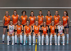 24-12-2019 NED: Photoshoot selection of Orange Youth Girls, Arnhem<br /> Orange Youth Girls 2019 - 2020 / Sanne Konijnenberg #2, Nog de Vos #3, Marije ten Brinke #6, Sanne Wagener #7, Silke Bos #8, Dagmar Mourits #9, Joanne Brilhuis #10, Emily Silderhuis #11, Tess Leemreize #12, Pippa Molenaar #13, Nicole van de Vosse #14, Marit Zander #15, Marlijn Stelwagen #16 and Sabine de Groot #17