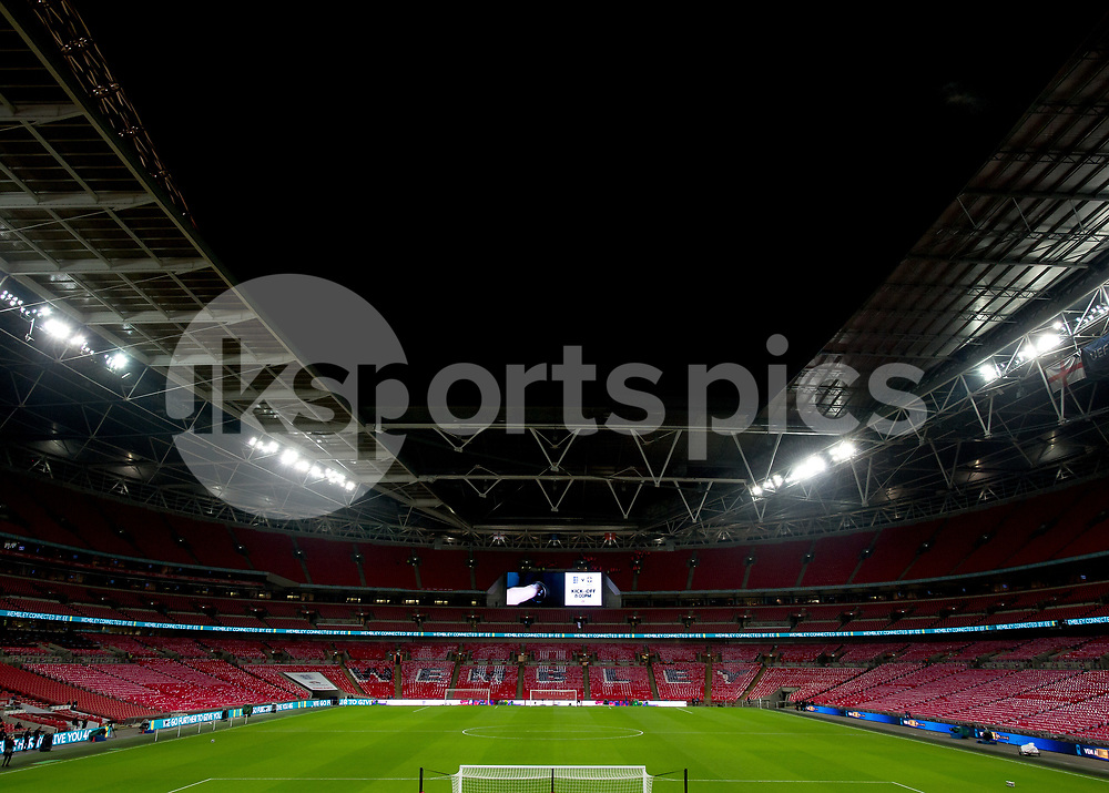 A general view inside Wembley Stadium during the International Friendly match between England and Brazil at Wembley Stadium, London, England on 14 November 2017. Photo by Vince Mignott.