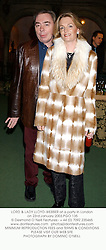 LORD & LADY LLOYD-WEBBER at a party in London on 23rd January 2003.PGO 135