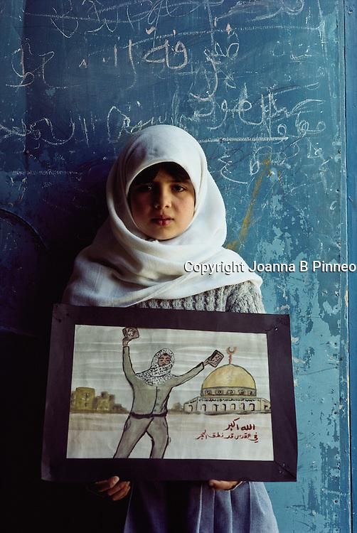 A UNHCR school at a Palestinian camp in Amman, Jordan.
