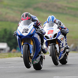 British Superbikes, Knockhill, 16-06-2013<br /> <br /> Samsung Honda Alex Lowes and Tyco Suzuki Josh Brookes<br /> <br /> (c) David Wardle | StockPix.eu