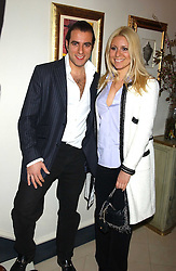 BARON BLOOM and his sister BEVERLEY BLOOM  at a Conservative Party Reception for the Art held at 24 Thurloe Square, Lndon SW7 on 5th April 2005.<br />