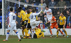 Tranmere Rovers's George Green scores the equalising goal - Photo mandatory by-line: Richard Martin-Roberts/JMP - Mobile: 07966 386802 - 28/03/2015 - SPORT - Football - Birkenhead - Prenton Park - Tranmere Rovers v AFC Wimbledon - Sky Bet League Two