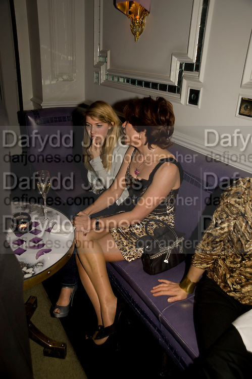GEORGINA ROBERTSON; KATHY LETTE, Book party; Jessica Adams, Maggie Alderson, Imogen Edwards-Jones and Kathy Lette host the launch of 'In Bed With.' Artesian, The Langham, Portland Place. London. 11 February 2009 *** Local Caption *** -DO NOT ARCHIVE-© Copyright Photograph by Dafydd Jones. 248 Clapham Rd. London SW9 0PZ. Tel 0207 820 0771. www.dafjones.com.<br /> GEORGINA ROBERTSON; KATHY LETTE, Book party; Jessica Adams, Maggie Alderson, Imogen Edwards-Jones and Kathy Lette host the launch of 'In Bed With.' Artesian, The Langham, Portland Place. London. 11 February 2009