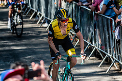 Robert GESINK of Team LottoNL-Jumbo during the last climb at Mur de Huy of the 2018 La Flèche Wallonne race, Huy, Belgium, 18 April 2018, Photo by Pim Nijland / PelotonPhotos.com | All photos usage must carry mandatory copyright credit (Peloton Photos | Pim Nijland)