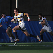 BERKELEY, CA - NOVEMBER 08:  Thomas Robles #1 of California breaks away with the ball during the PAC Rugby 7's Championship between UCLA and California at Witter Rugby Field at the University of California on November 8, 2015 in Berkeley, California. California won the match by a score of 17-5. (Photo by Alex Menendez/Getty Images) *** Local Caption *** Thomas Robles