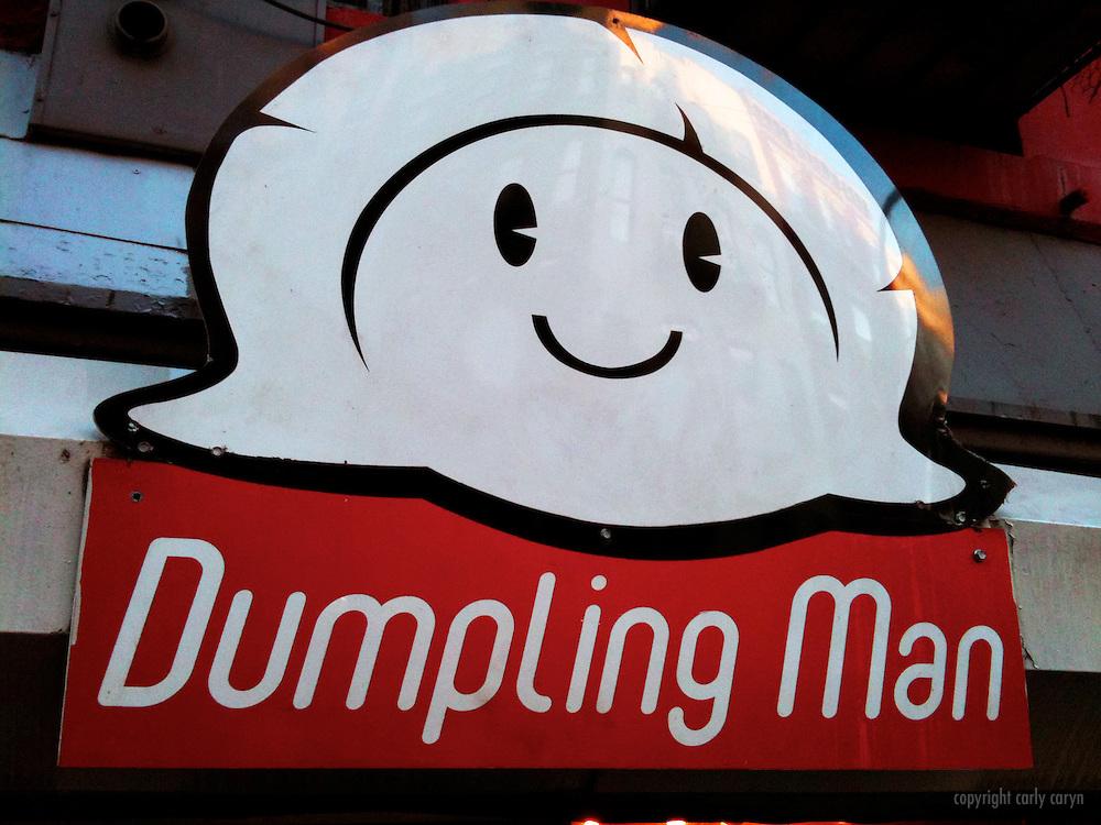 Dumpling Man sign