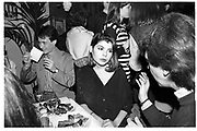 IVANA LOWELL, Saddam Hussein party, Boardwalk, Greek St. London. 29 May 1991,<br /> <br /> SUPPLIED FOR ONE-TIME USE ONLY> DO NOT ARCHIVE. © Copyright Photograph by Dafydd Jones 248 Clapham Rd.  London SW90PZ Tel 020 7820 0771 www.dafjones.com
