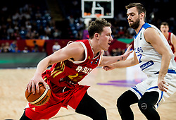 Dmitrii Kulagin of Russia vs Evangelos Mantzaris of Greece during basketball match between National Teams of Greece and Russia at Day 14 in Round of 16 of the FIBA EuroBasket 2017 at Sinan Erdem Dome in Istanbul, Turkey on September 13, 2017. Photo by Vid Ponikvar / Sportida