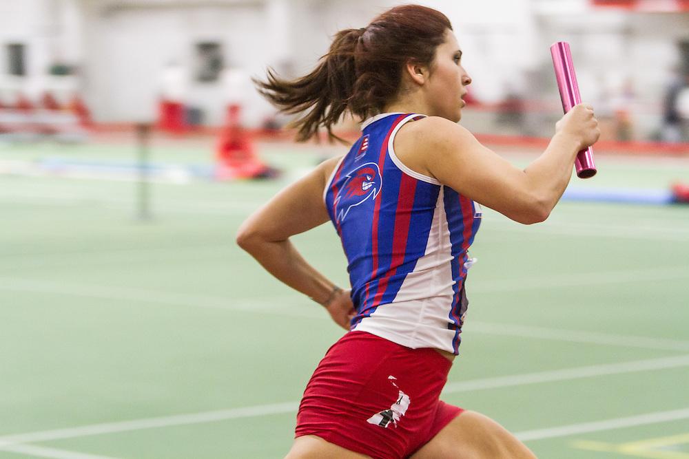 Boston University Multi-team indoor track & field, women 4x400 meter relay, heat 1, UMass Lowell