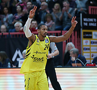 Basketball  1. Bundesliga  2017/2018  Hauptrunde  16. Spieltag  30.12.2017 Walter Tigers Tuebingen - MHP RIESEN Ludwigsburg Barry Stewart (Tigers)