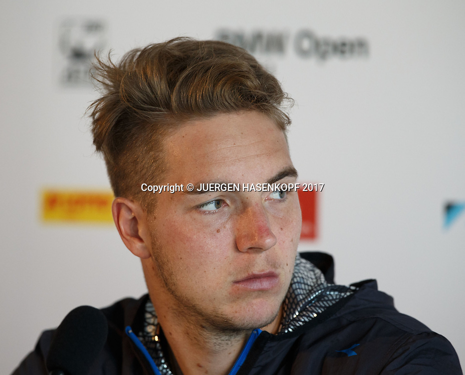 JAN-LENNARD STRUFF (GER), Pressekonferenz, Portrait<br /> <br /> Tennis - BMW Open 2017 -  ATP  -  MTTC Iphitos - Munich -  - Germany  - 5 May 2017.