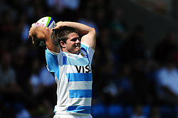 Gaspar Baldunciel of Argentina U20 looks to throw into a lineout - Mandatory byline: Patrick Khachfe/JMP - 07966 386802 - 25/06/2016 - RUGBY UNION - AJ Bell Stadium - Manchester, England - Argentina U20 v South Africa U20 - World Rugby U20 Championship 2016 3rd Place Play-Off.