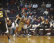 "Ole Miss guard Nick Williams (20) makes a steal at C.M. ""Tad"" Smith Coliseum in Oxford, Miss. on Saturday, December 4, 2010."