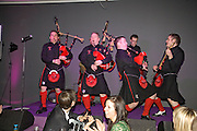 The Red Hot Chili Pipers, Not Another Burns night.  Fundraising gala in aid of Clic Sargent and Children's Hospice Association Scotland (CHAS)St. Martin's Lane Hotel.  Monday 3rd March *** Local Caption *** -DO NOT ARCHIVE-© Copyright Photograph by Dafydd Jones. 248 Clapham Rd. London SW9 0PZ. Tel 0207 820 0771. www.dafjones.com.