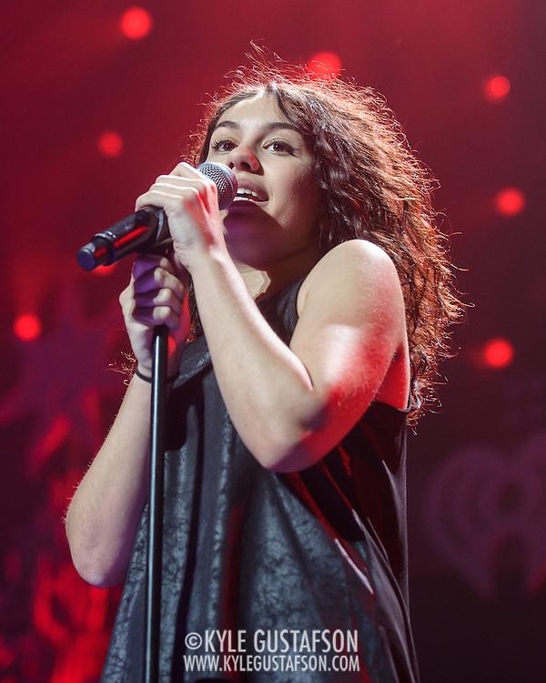 ALEXIA CARA performs at the Hot 99.5 Jingle Ball at the Verizon Center in Washington, D.C.