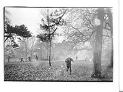 Prospect park in snow. Saturday 10.30 am 5dec '92© Copyright Photograph by Dafydd Jones 66 Stockwell Park Rd. London SW9 0DA Tel 020 7733 0108 www.dafjones.com