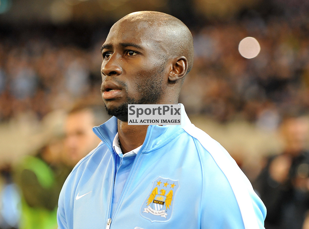 Eliaquim Mangala, Manchester City.<br /> The International Champions Cup.<br /> AS Roma V Manchester City, held at the MCG (Melbourne Cricket Ground), Melbourne, Victoria, Australia, on the 21st July 2015.<br /> Wayne Neal | SportPix.org.uk