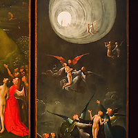 """ Ascent in the Empyrean"" part of the ""Paradise and Hell"" panels by Hieronymus Bosch on display in the Tribuna room at Palazzo Grimani. The  exhibition will be open until 20th March 2011"