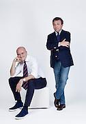 Milano, intervitsa di Chiambretti a Signorini, direttore di CHI