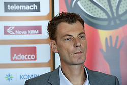 Gasper Okorn, head coach of KK Union Olimpija, at press conference before new season of KZS Nova KBM League 2016/17, on October 05, 2016, in Radisson Blu Plaza Hotel, Ljubljana. Photo by Matic Klansek Velej / Sportida.