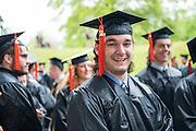 Luke Grasso at undergraduate commencement. Photo by Ben Siegel