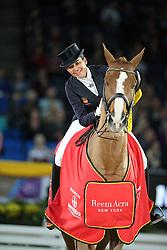 Ferrer-Salat Beatriz, (ESP), Delgado<br /> Grand Prix Kür<br /> Reem Acra FEI World Cup Dressage<br /> Stuttgart - German Masters 2015<br /> © Hippo Foto - Stefan Lafrentz