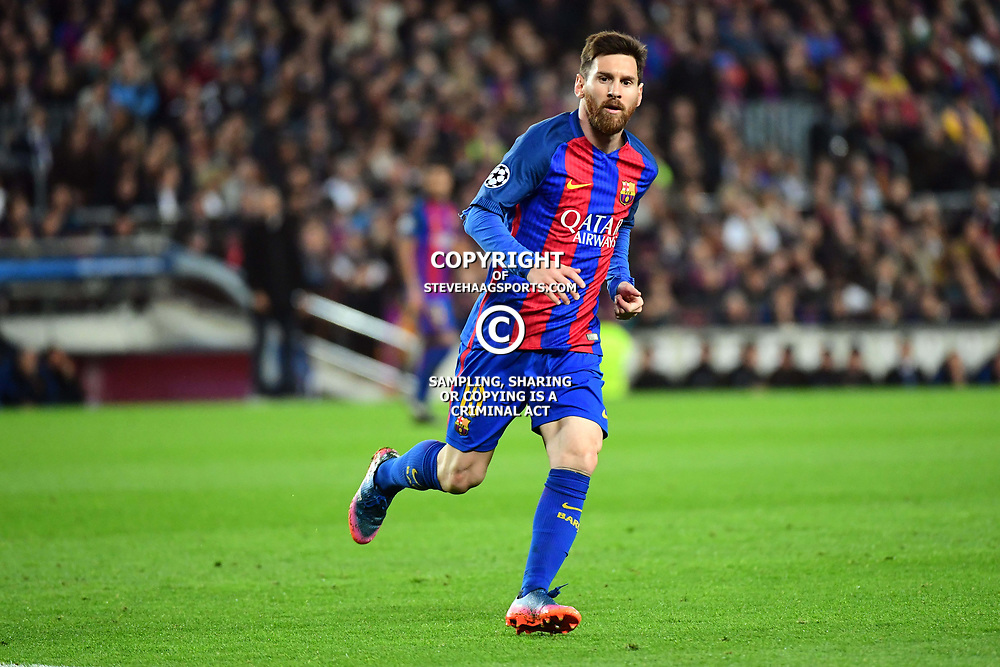 Lionel Messi of Barcelona during the Uefa Champions League Round of 16 second leg match between FC Barcelona and Paris Saint Germain at Camp Nou on March 8, 2017 in Barcelona, Spain. (Photo by Dave Winter/Icon Sport)